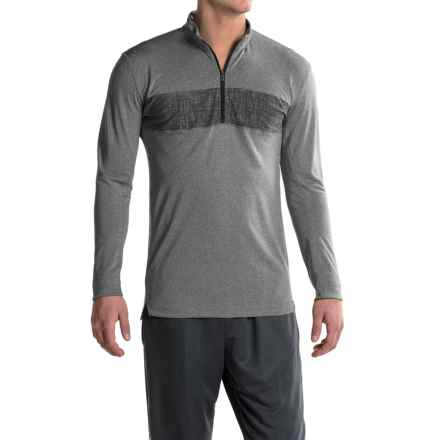 adidas Zip Neck Shirt - Long Sleeve (For Men) in Utility Black - Closeouts