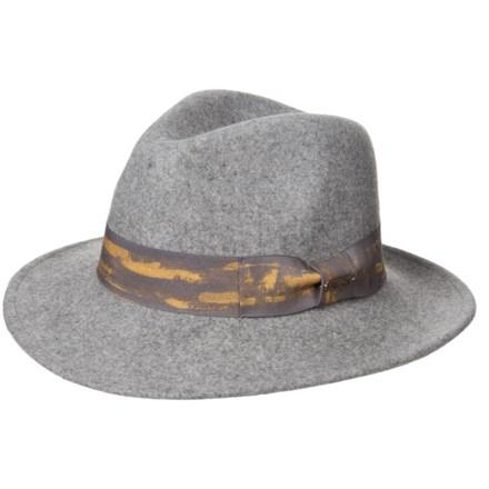 fee4a9db452 Adora Distressed Ribbon Wool Felt Safari Hat (For Women) in Mix Grey -  Closeouts