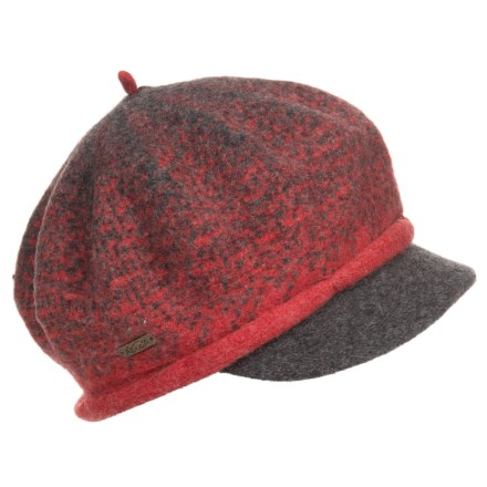 4754f8368fc Adora Soft Wool Newsboy Cap (For Women) in Red Soft - Closeouts