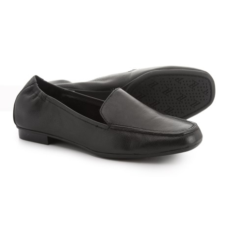 Adrienne Vittadini Angela Loafers - Leather (For Women) in Black