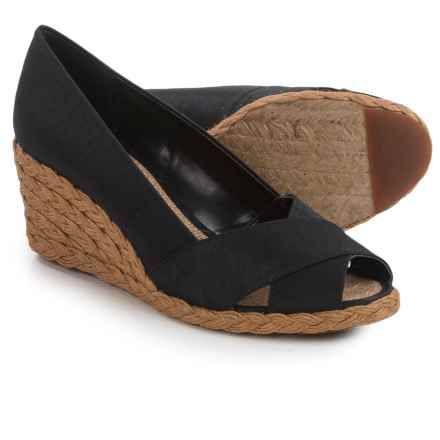 Adrienne Vittadini Bailee Wedge Shoes (For Women) in Black - Closeouts
