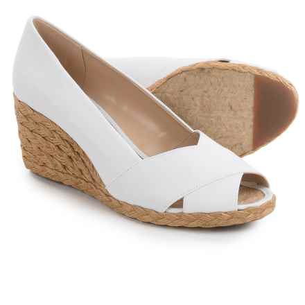 Adrienne Vittadini Bailee Wedge Shoes (For Women) in White - Closeouts