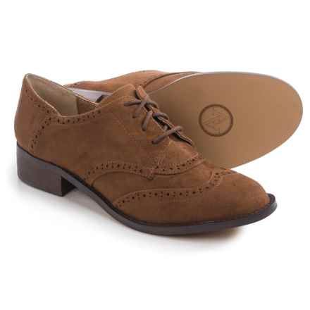Adrienne Vittadini Biome Oxford Shoes - Leather (For Women) in Dark Brown - Closeouts