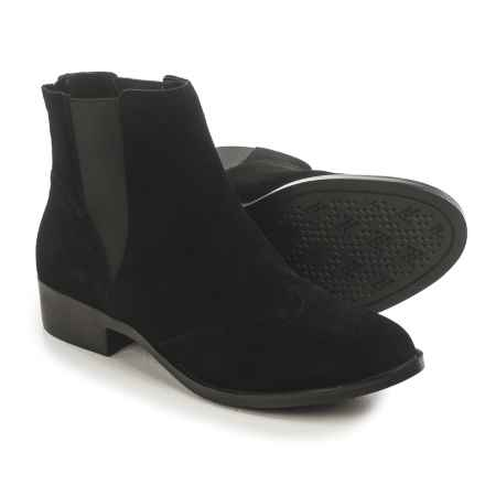 Adrienne Vittadini Bolte Chelsea Boots - Suede (For Women) in Black Suede - Closeouts