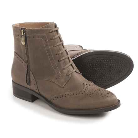 Adrienne Vittadini Borough Boots - Leather (For Women) in Brown Antiqued Wash - Closeouts