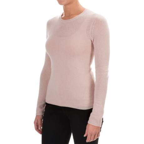 Adrienne Vittadini Cashmere Crew Neck Sweater (For Women)