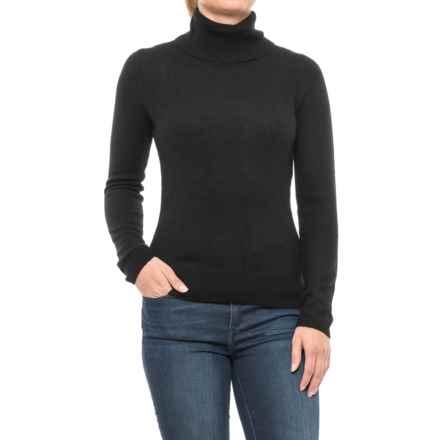 Adrienne Vittadini Cashmere Turtleneck Sweater (For Women) in Black - Closeouts