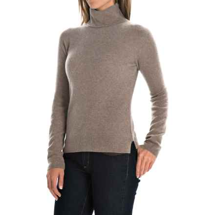 Adrienne Vittadini Cashmere Turtleneck Sweater (For Women) in Hemp Heather - Closeouts