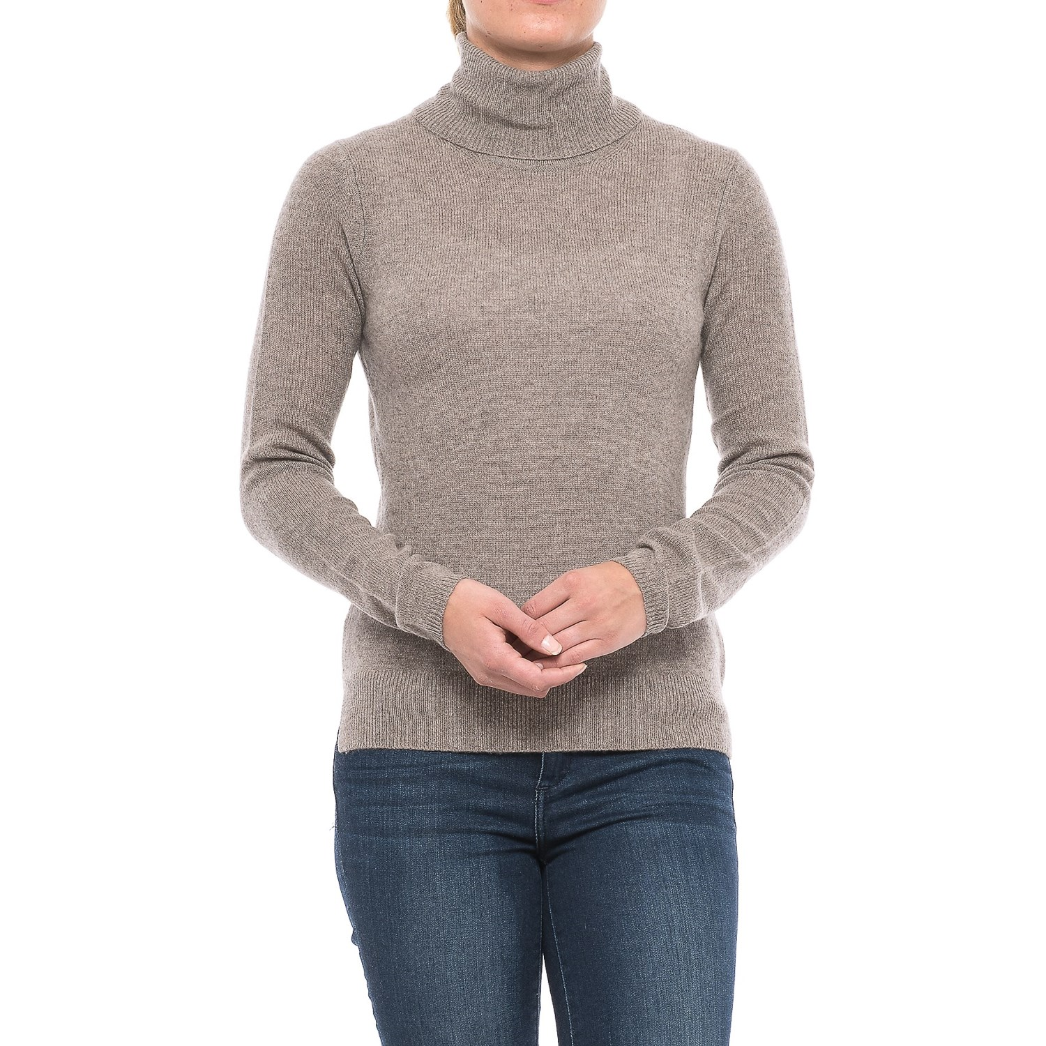 Adrienne Vittadini Cashmere Turtleneck Sweater (For Women) - Save 45%