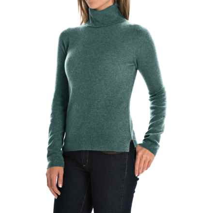 Adrienne Vittadini Cashmere Turtleneck Sweater (For Women) in Wreath Heather - Closeouts