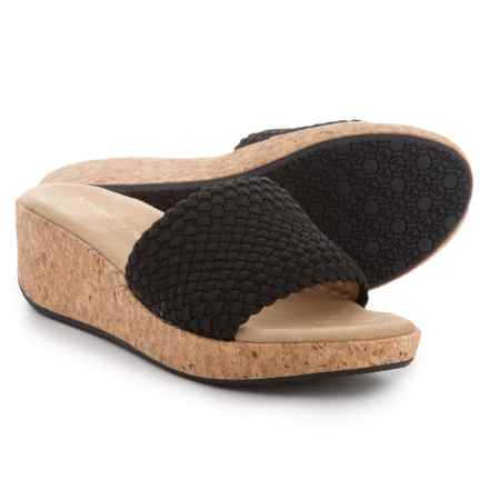 Adrienne Vittadini Davis Wedge Sandals (For Women) in Black - Closeouts