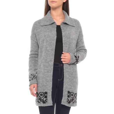 b19dc3cc49 Adrienne Vittadini Drape Cardigan Sweater - Open Front (For Women) in  Steeple Grey Heather
