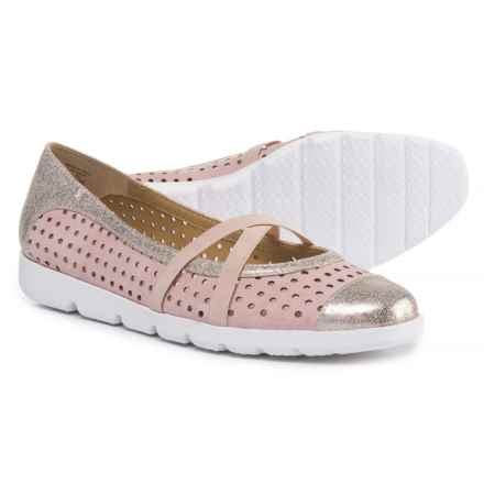 Adrienne Vittadini Faine Mary Jane Shoes - Suede (For Women) in Dusty Pink/Gold Supersuede/Metallic - Closeouts