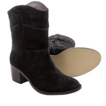 Adrienne Vittadini Fonzie Boots - Suede (For Women) in Black - Closeouts