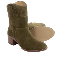 Adrienne Vittadini Fonzie Boots - Suede (For Women) in Khaki - Closeouts