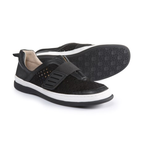 Adrienne Vittadini Forum Perforated Sneakers - Leather (For Women) in Black