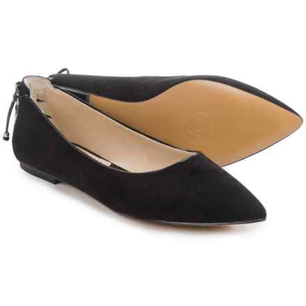 Adrienne Vittadini Freedom Flats - Suede (For Women) in Black Suede - Closeouts
