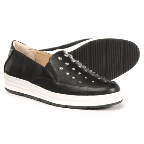 Adrienne Vittadini Goldie Studded Shoes - Leather (For Women) in Black Supersuede