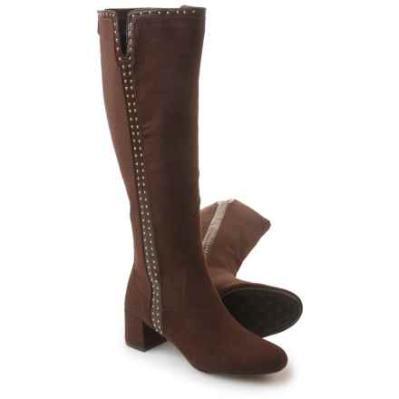 Adrienne Vittadini Larosa Tall Boots - Vegan Leather (For Women) in Dark Brown - Closeouts