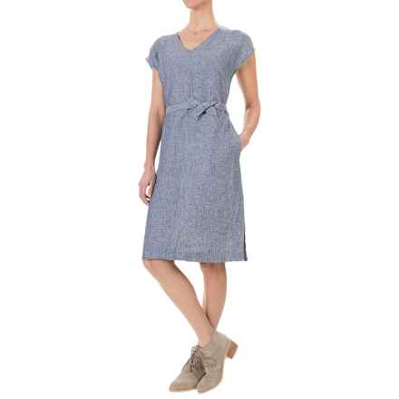 Adrienne Vittadini Linen Dress - Sleeveless (For Women) in Indigo - Overstock