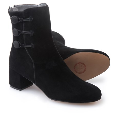 Adrienne Vittadini Luretta Suede Booties (For Women) in Black