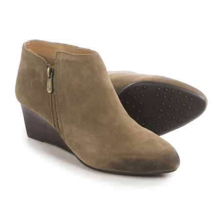 Adrienne Vittadini Meriel Wedge Boots - Leather (For Women) in Beige Suede - Closeouts