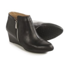 Adrienne Vittadini Meriel Wedge Boots - Leather (For Women) in Black Leather - Closeouts