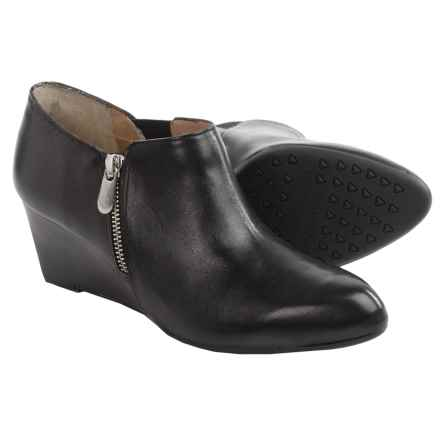 Adrienne Vittadini Midge Wedge Boots - Leather (For Women) in Black - Closeouts