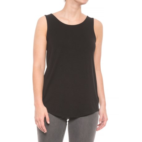 Adrienne Vittadini Modal Tank Top (For Women) in Black