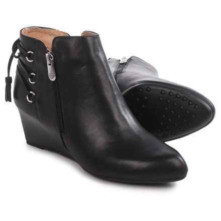 Adrienne Vittadini Moltz Wedge Boots (For Women) in Black - Closeouts