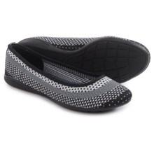 Adrienne Vittadini Moonstone Knit Flats (For Women) in White/Grey/Black - Closeouts