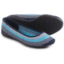 Adrienne Vittadini Moonstone Knit Flats (For Women) in White/Pool/Blue - Closeouts