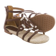 Adrienne Vittadini Pablic Sandals - Leather (For Women) in Dark Brown - Closeouts