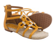 Adrienne Vittadini Pablic Sandals - Leather (For Women) in Sun - Closeouts
