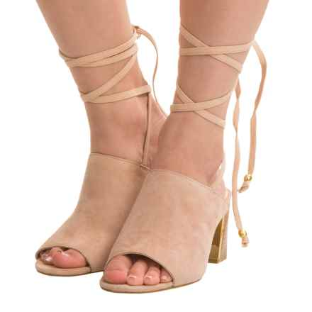 Adrienne Vittadini Panak Sandals - Suede (For Women) in Cashew - Closeouts