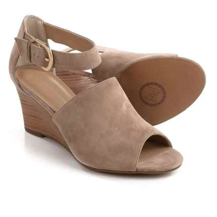 Adrienne Vittadini Ranta Wedge Sandals - Suede (For Women) in Almond - Closeouts
