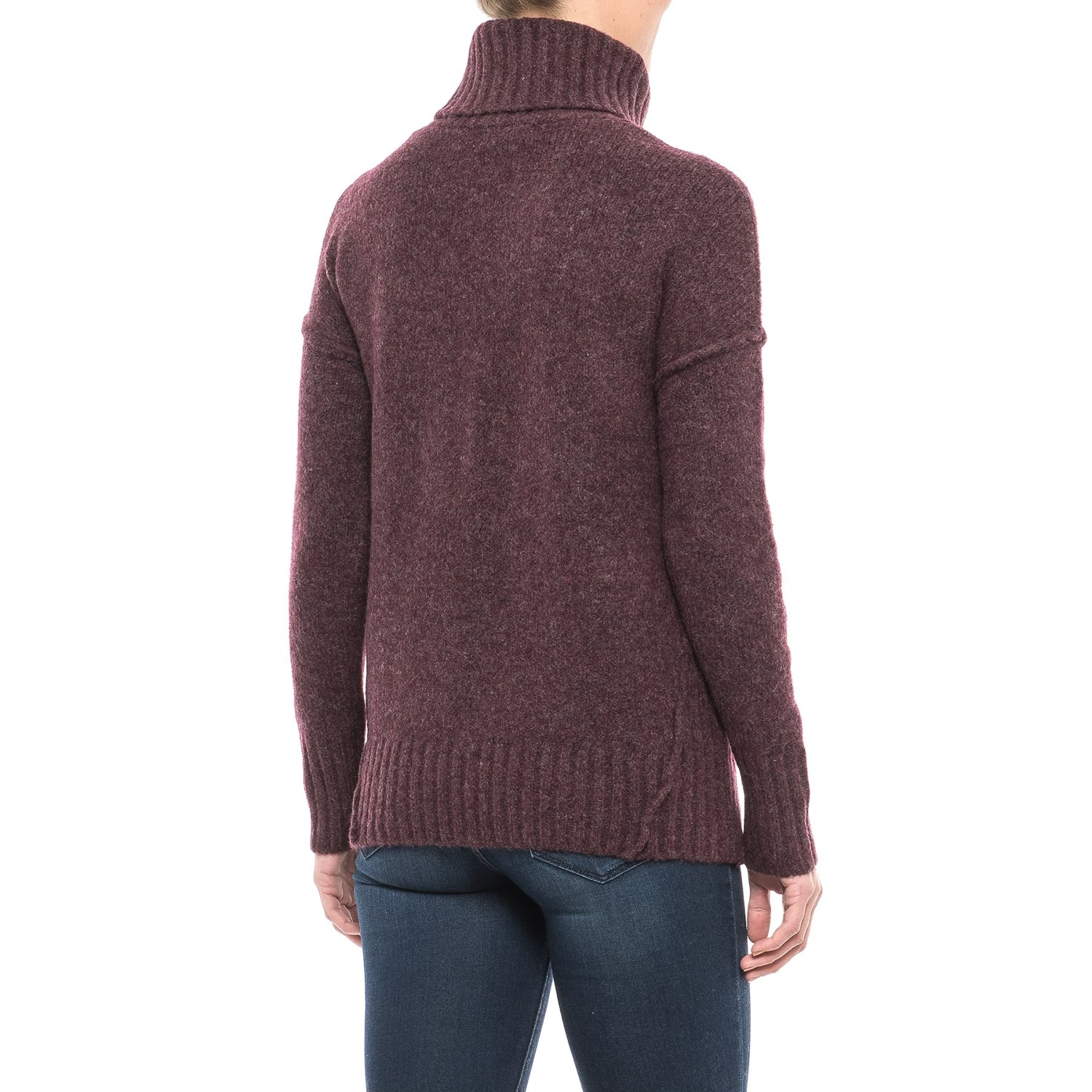 Adrienne Vittadini Recovery Yarn Turtleneck Sweater (For Women ...