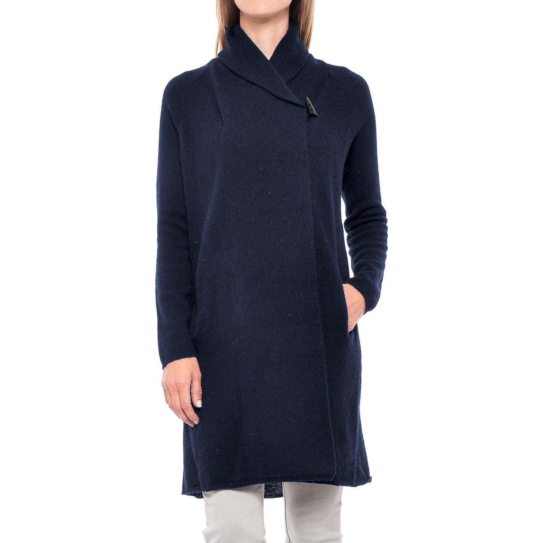 Adrienne Vittadini Shawl Collar Long Cardigan Sweater (For Women ...