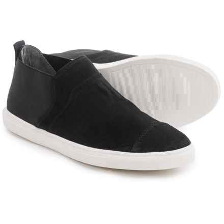 Adrienne Vittadini Siva Sneakers - Slip-Ons (For Women) in Black Suede - Closeouts