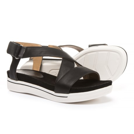 Adrienne Vittadini Sport Celie Sandals - Leather (For Women) in Black Smooth