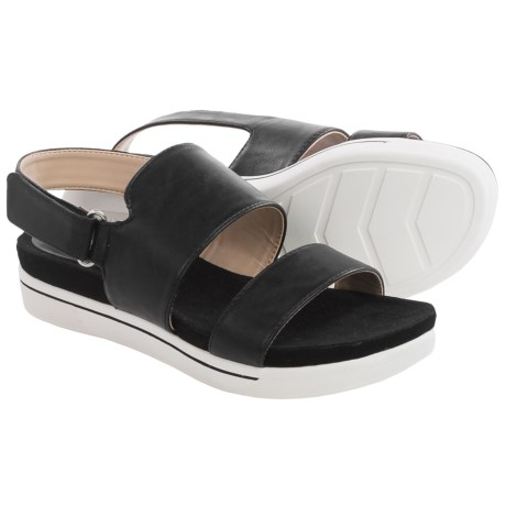 Adrienne Vittadini Sport Chuckie Sandals - Leather (For Women) in Black