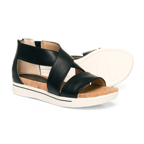Adrienne Vittadini Sport Claud Sandals - Leather (For Women) in Black Smooth