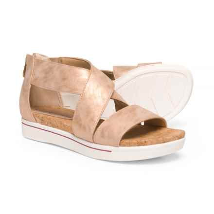 Adrienne Vittadini Sport Claud Sandals - Leather (For Women) in Rose Gold - Closeouts