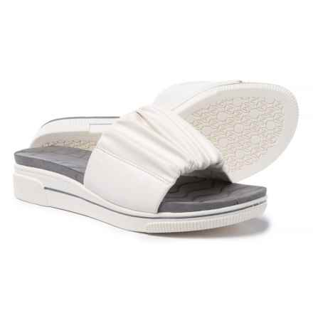 Adrienne Vittadini Sport Curtis Sandals (For Women) in White Smooth - Closeouts