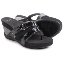 Adrienne Vittadini Sport Damir Wedge Sandals (For Women) in Black - Closeouts