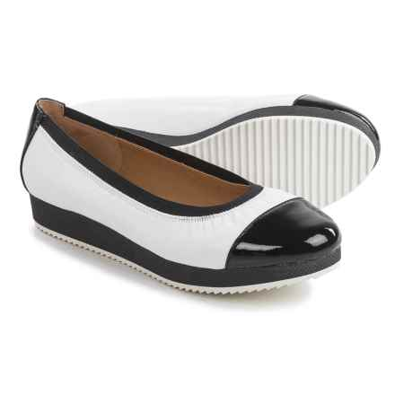Adrienne Vittadini Sport Gilsa Shoes - Leather (For Women) in White/Black - Closeouts