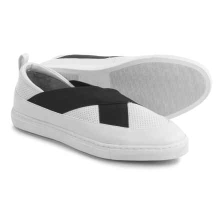 Adrienne Vittadini Stanna Shoes - Leather (For Women) in White - Closeouts