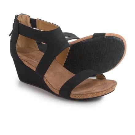 Adrienne Vittadini Thalia 2 Wedge Sandals - Nubuck (For Women) in Black - Closeouts