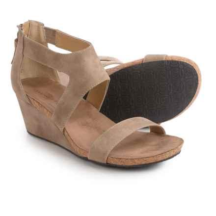 Adrienne Vittadini Thalia 2 Wedge Sandals - Nubuck (For Women) in Sand - Closeouts