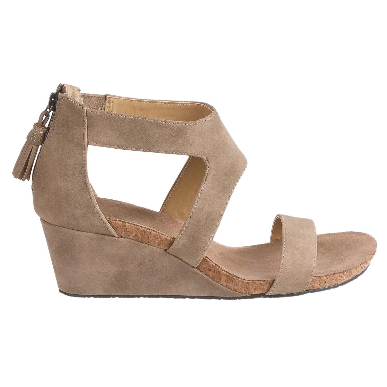 Womens sandals wedges - Adrienne Vittadini Thalia 2 Wedge Sandals Nubuck For Women